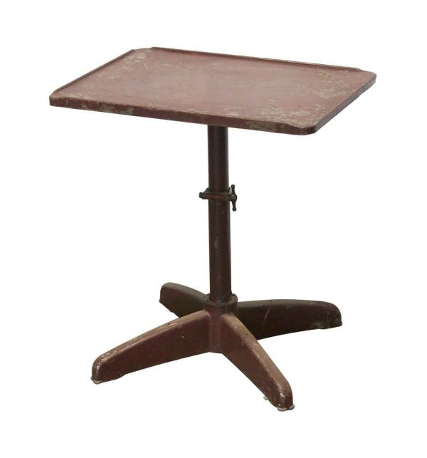 Kitchen & Dining - Adjustable Industrial Steel Bistro Square Table