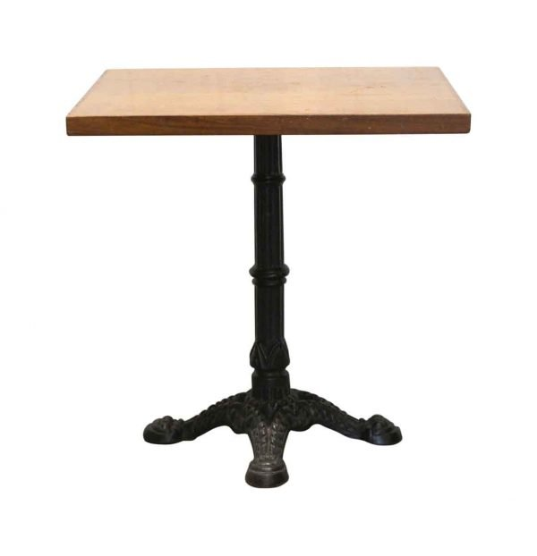 Kitchen & Dining - Square Bistro Table with Cast Iron Ornate Base