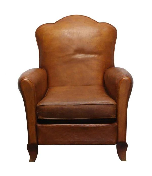 Living Room - Leather Imported Club Chair