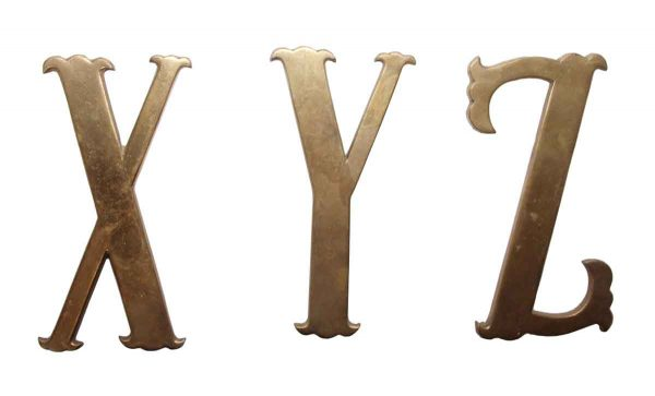 Other Hardware - Small 7.75 in. XYZ Brass Letter Set