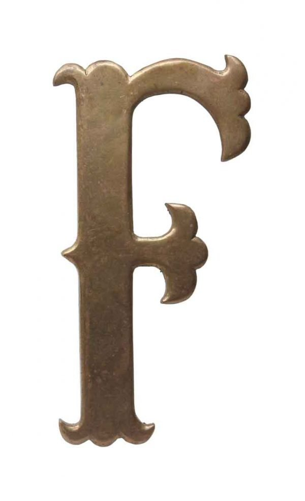 Other Hardware - Small 7.75 Solid Brass Letter F