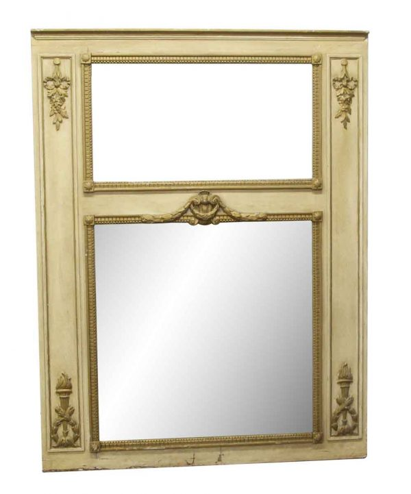 Overmantels & Mirrors - Antique Tan Waldorf Astoria Overmantel Mirror