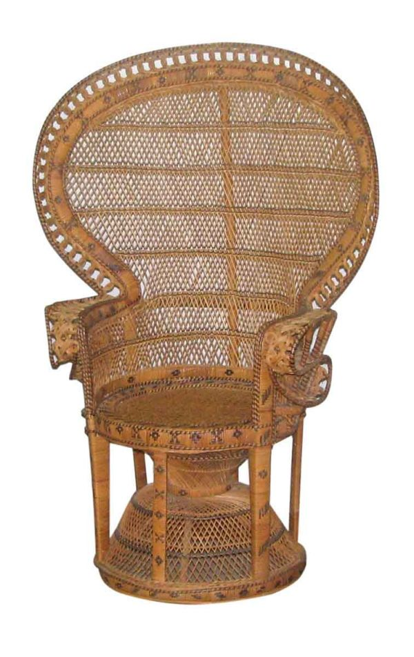 Patio Furniture - Vintage 1970s Wicker Chair