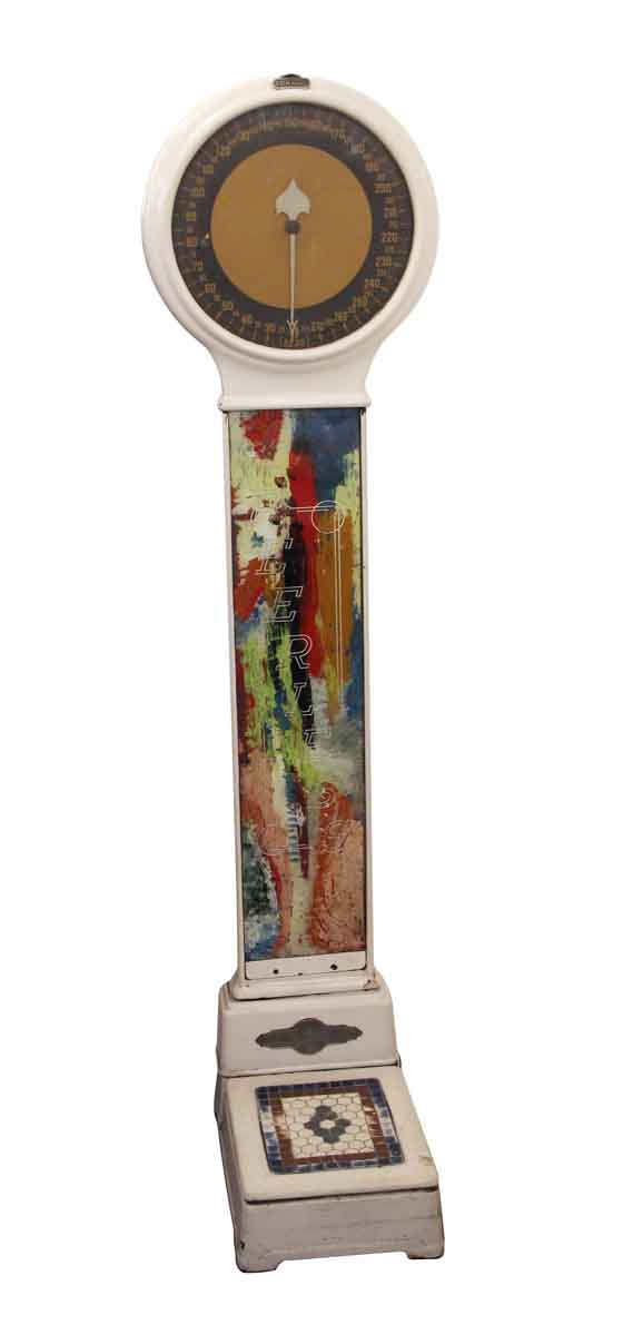 Scales - Colorful Glass Front Enamel Over Cast Iron Peerless Lollipop Scale