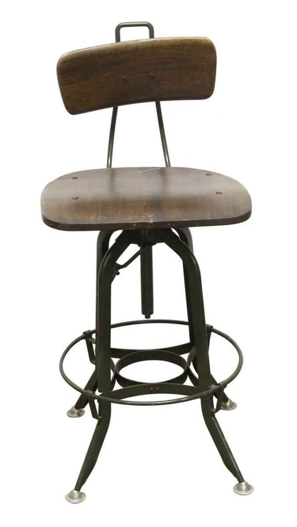 Seating - Adjustable Wood & Metal Counter Height Stool