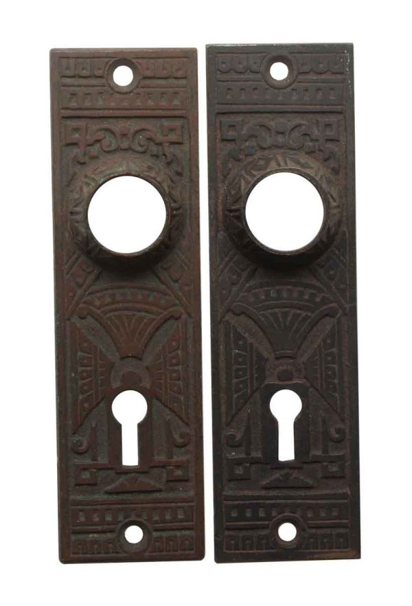 Back Plates - Aesthetic 5.25 in. Bronze Keyhole Door Back Plates