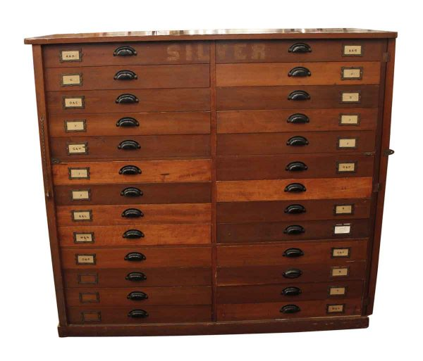 Cabinets - 26 Drawer Wooden Flatware Cabinet