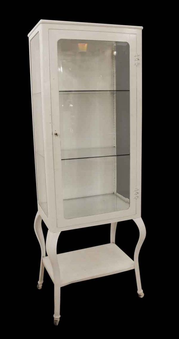 Cabinets - Antique White Medical Cabinet with Beveled Glass