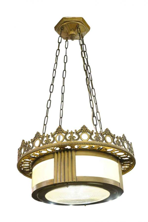 Drums - Judaic Synagogue Bronze Deco Pendant Light
