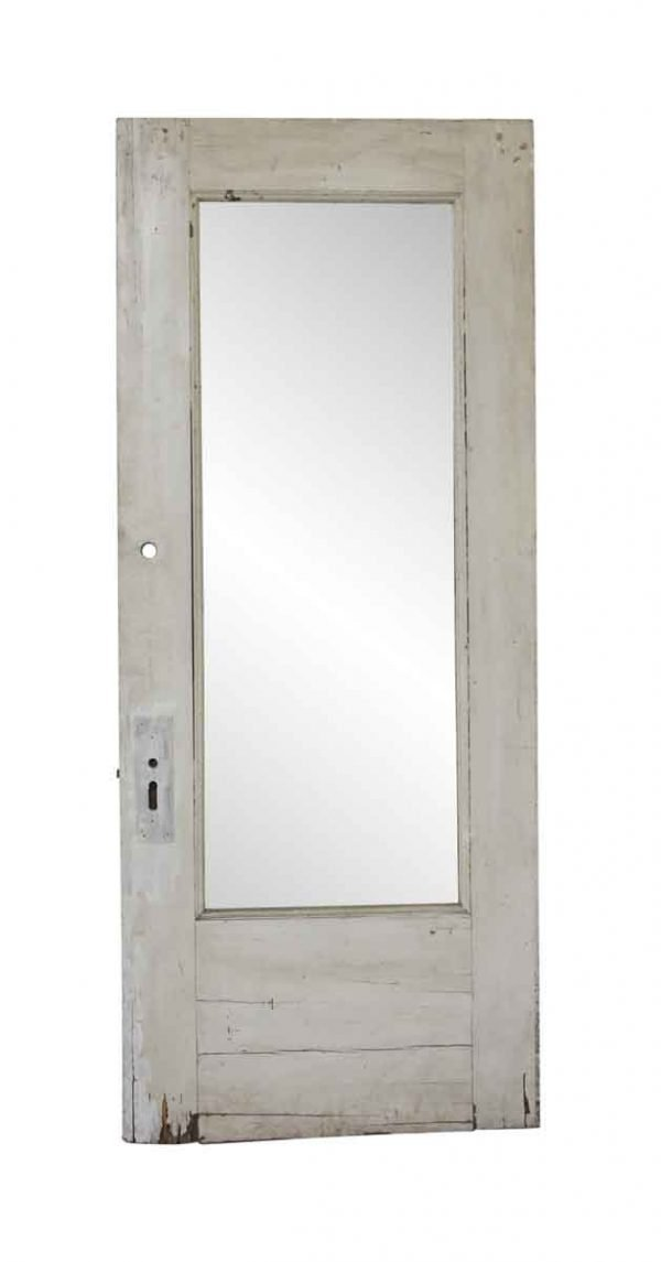 Entry Doors - Antique 1 Lite Wooden Entry Door 82.25 x 33.75