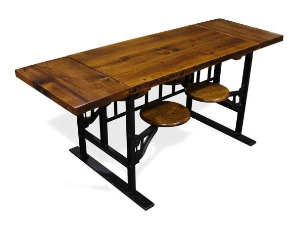 Farm Tables - Custom Pine Top 4 Swing Seat Table with Extensions