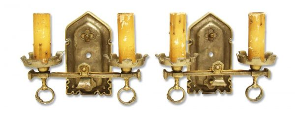 Sconces & Wall Lighting - Arts & Crafts Nickel Plated Scones