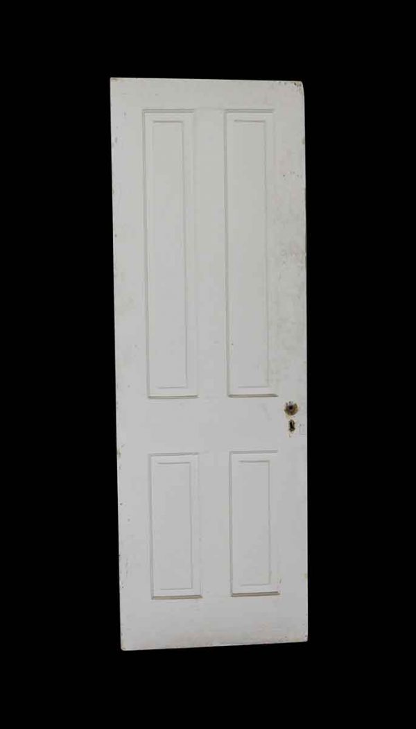 Standard Doors - Antique White 4 Panel Wood Passage Door 75.875 x 25.75
