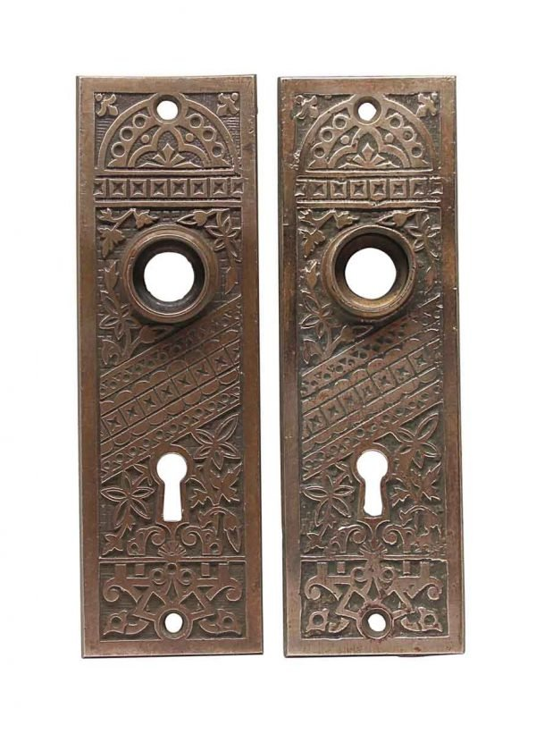 Back Plates - Pair of Aesthetic Bronze Door Back Plates