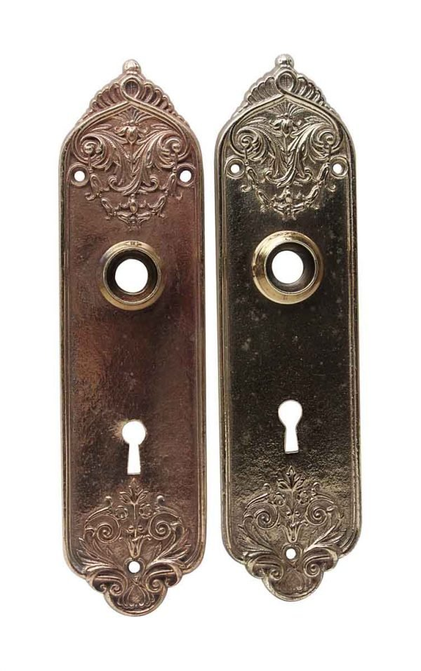 Back Plates - Pair of Brass Polished Door Back Plates