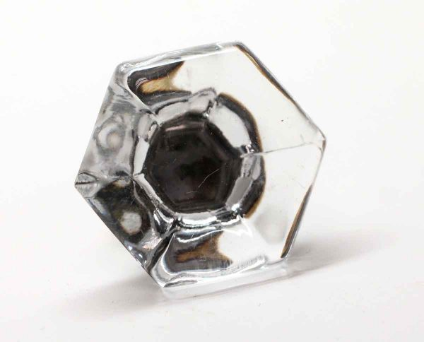 Cabinet & Furniture Knobs - Hexagon Shaped 2 in. Glass Drawer Knob