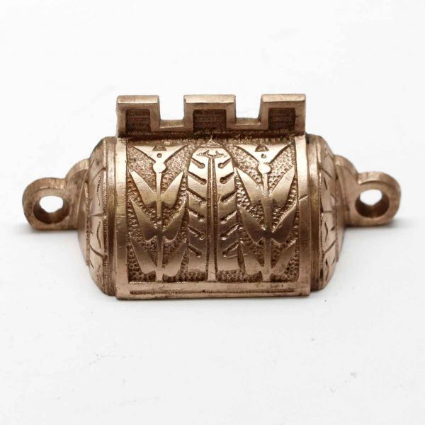 Cabinet & Furniture Pulls - Antique Ornate Bronze Leaf Bin Drawer Pull