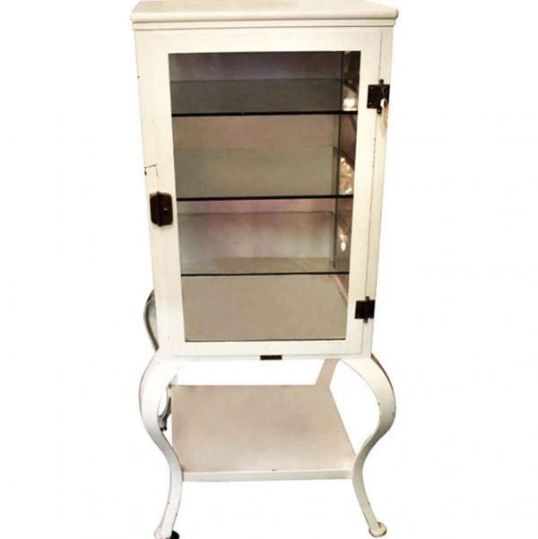 Cabinets - White Medical Cabinet with Three Glass Shelves