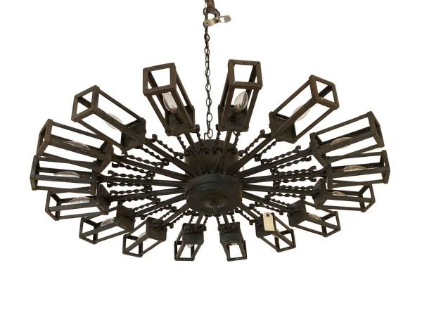 Chandeliers - Modern 16 Arm Geometrical Forged Iron Chandelier