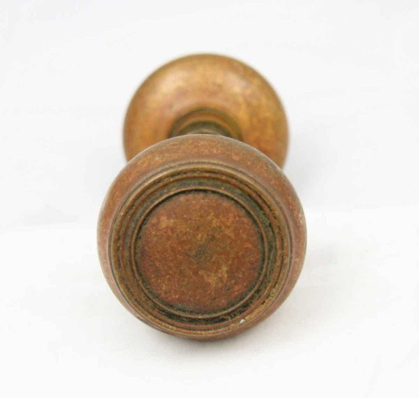 Door Knobs - Antique Solid Bronze Concentric Doorknobs