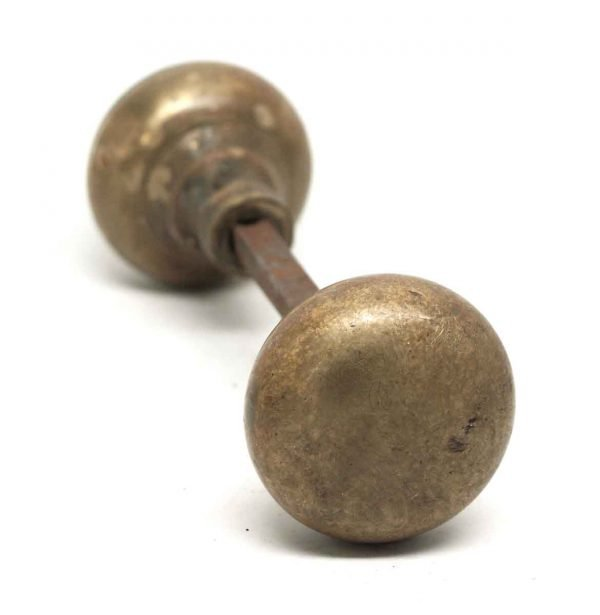 Door Knobs - Basic Antique Cast Brass Plain Door Knobs
