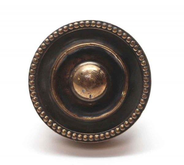 Door Knobs - Beaded Bronze Concentric Brass Door Knob