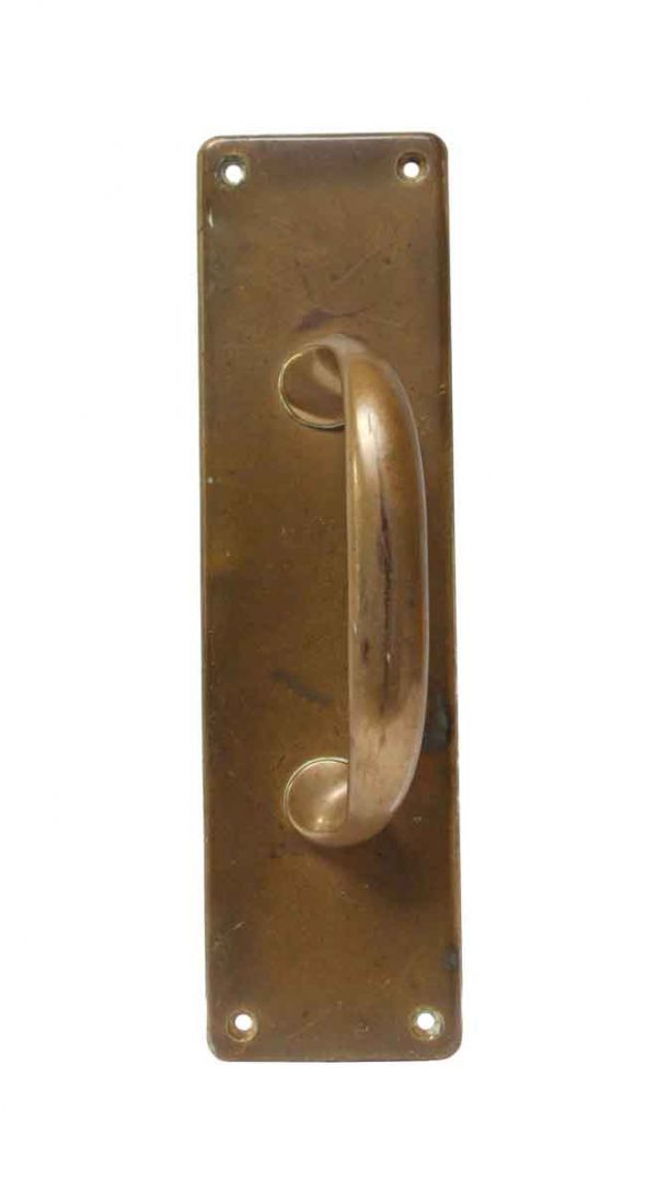 Door Pulls - Yale Right Hand Brass Antique Door Pull