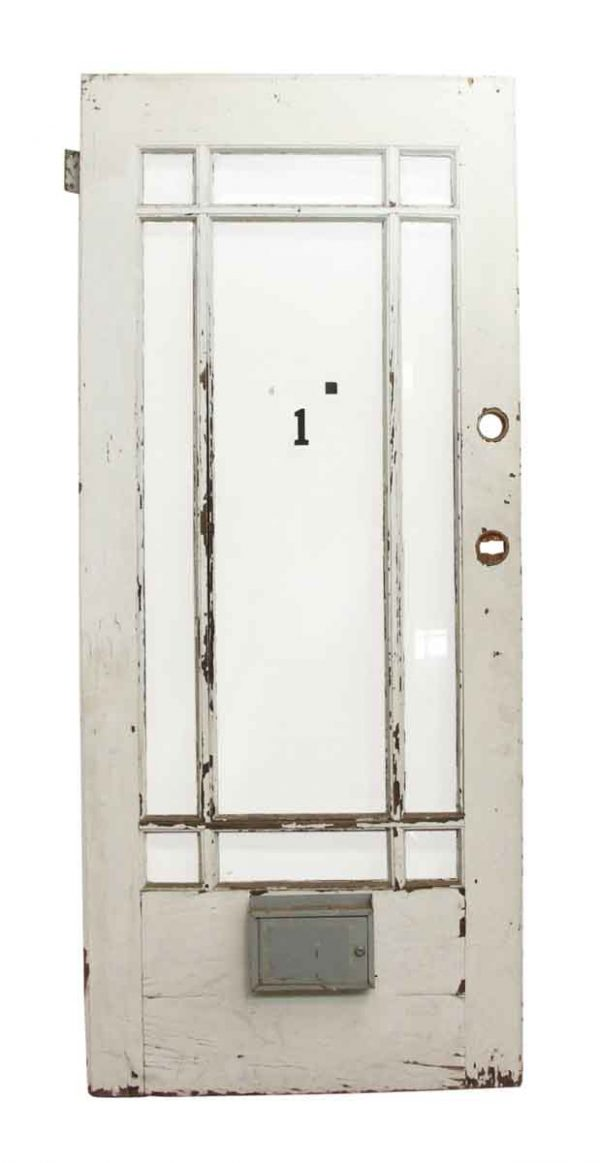 Entry Doors - Antique Arts & Crafts Wooden Entry Door 83.375 x 35.625