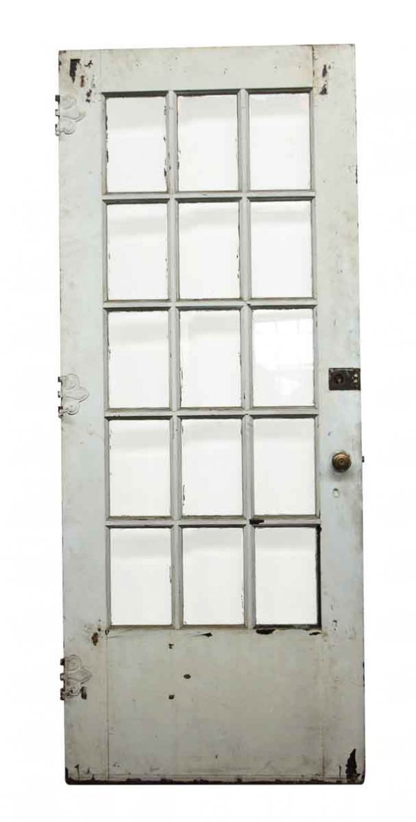French Doors - 15 Beveled Glass Panel Wood French Door 83.25 x 34