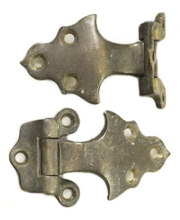Ice Box Hardware - Pair of Offset Arts & Crafts Style Ice Box Hinges