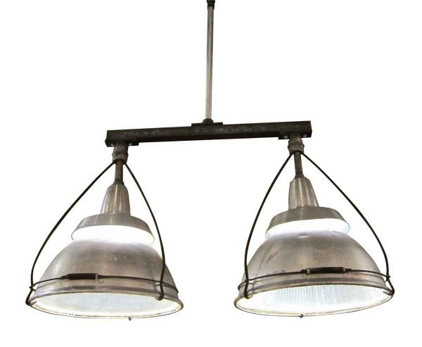 Industrial & Commercial - Double Holophane and Aluminum 1940s Factory Lights