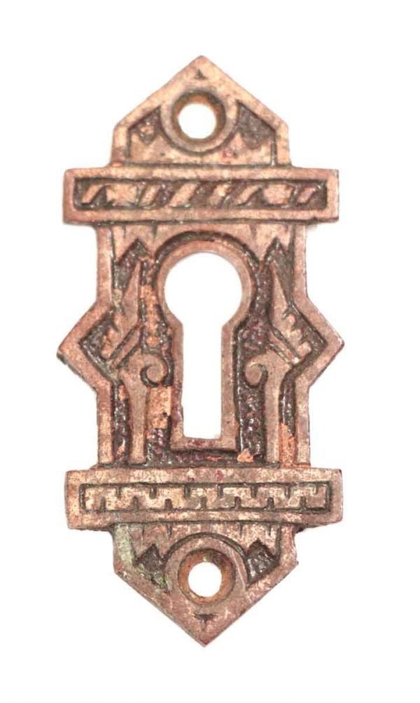 Keyhole Covers - 1890s Ornate Bronze Keyhole Cover