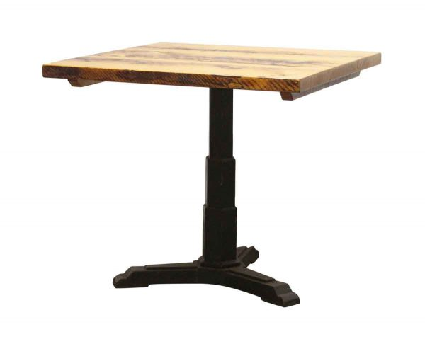 Kitchen & Dining - 34 in. Square Bistro Table with Cast Iron Base