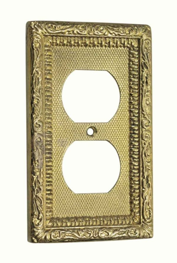 Lighting & Electrical Hardware - Ornate Duplex Outlet Cover