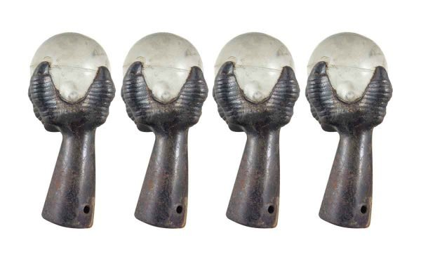 Other Cabinet Hardware - Cast Iron Furniture Claws Legs with Round Glass Ball