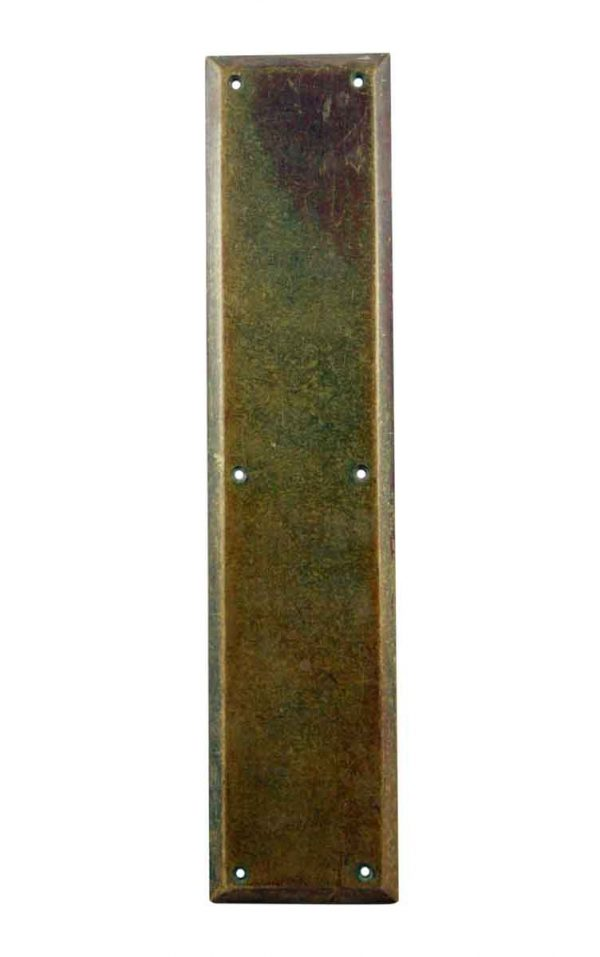 Push Plates - Antique Cast Brass Door Push Plate
