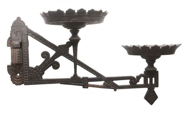 Sconces & Wall Lighting - Eastlake Cast Iron Oil Lamp with Mounting Bracket