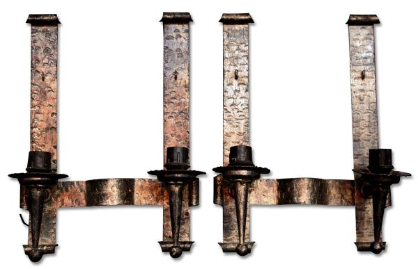 Sconces & Wall Lighting - Pair of Gothic Hammered Wall Sconces