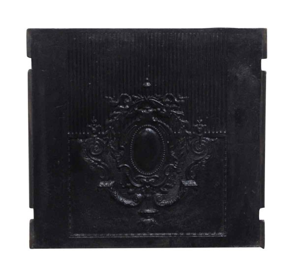 Screens & Covers - Antique Black Ornate Fireplace Back