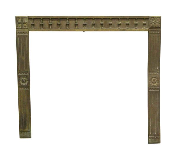 Screens & Covers - Antique Brass Fireplace Insert with Bulls Eye Detail
