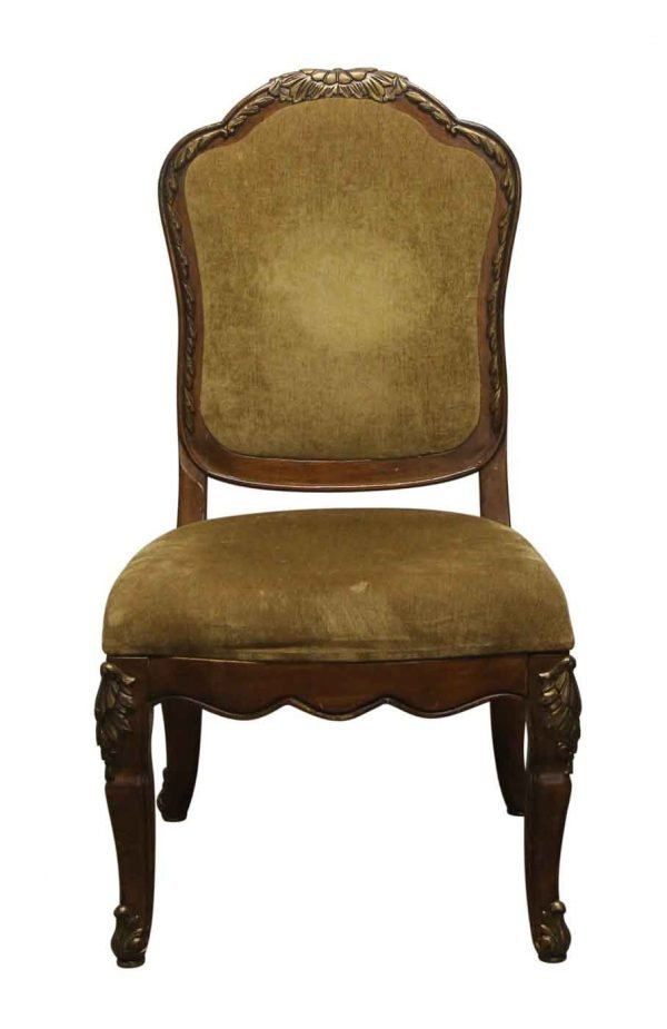 Seating - Armless Chair with Carved Floral Details
