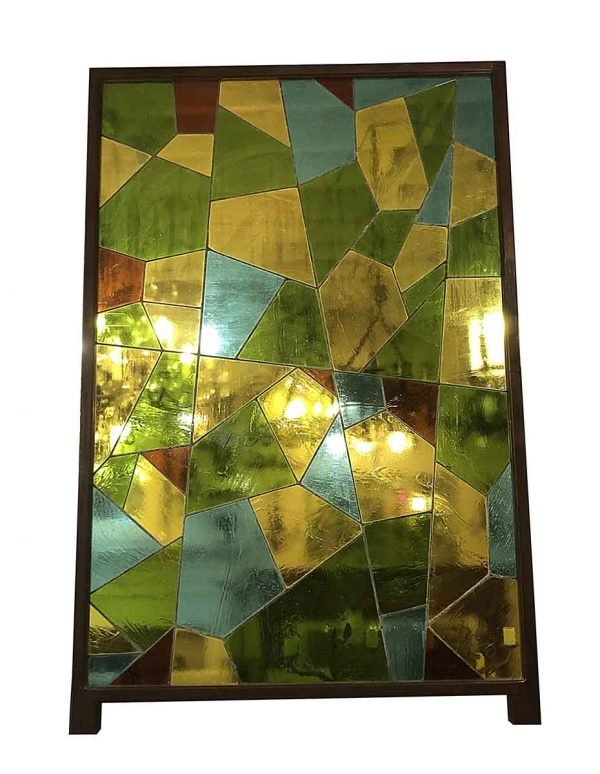 Stained Glass - Abstract Colored Stained Glass 71.25 x 47 Window
