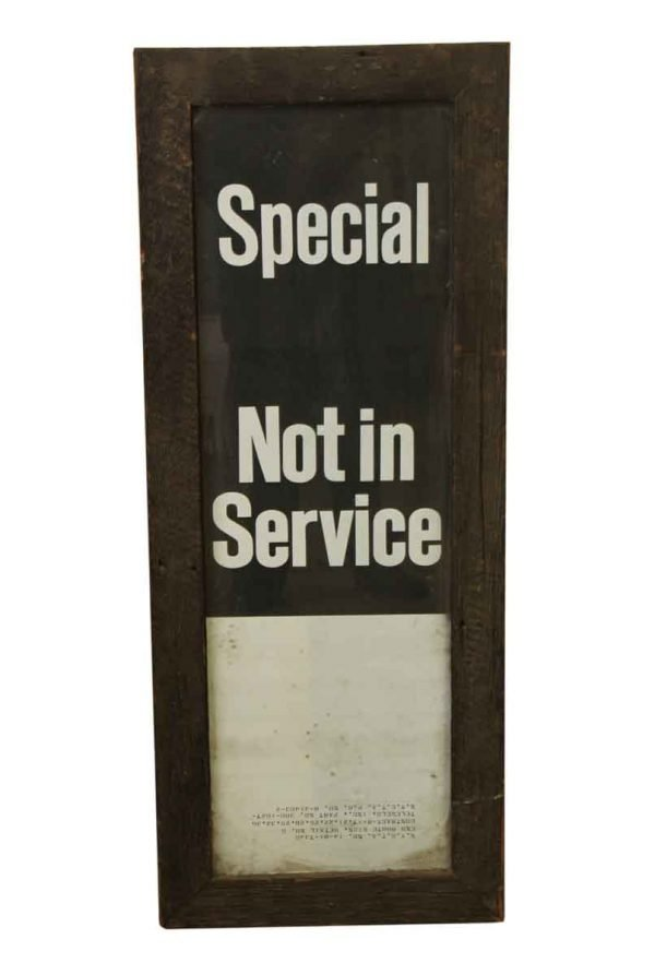 Vintage Signs - Vintage Wooden Framed Sign