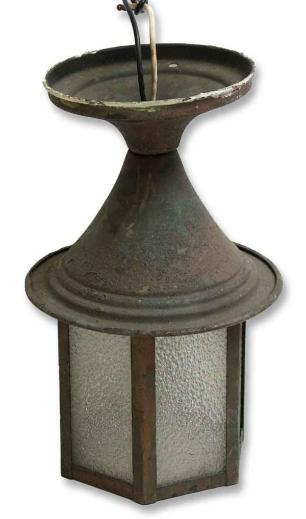 Wall & Ceiling Lanterns - Antique Small Ceiling Mount Copper Lantern