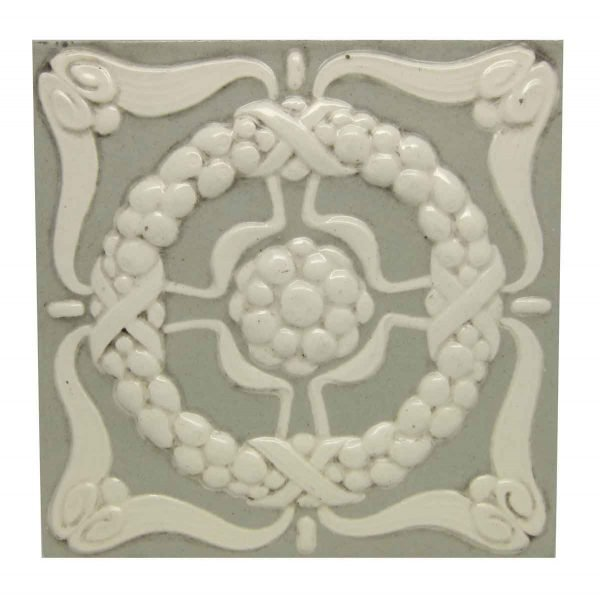 Wall Tiles - Green & White Raised Wall Tile
