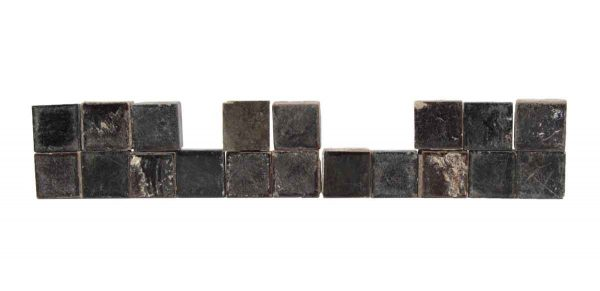 Wall Tiles - Set of 1 x 1 Small Square Black Tiles