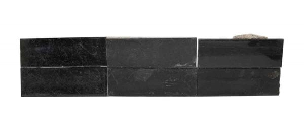 Wall Tiles - Set of Eight Black Shiny Tiles