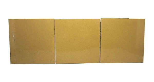 Wall Tiles - Tan Yellow Square Tile Set