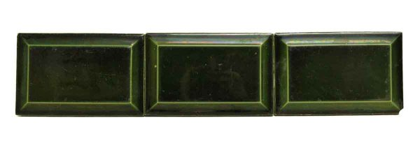 Wall Tiles - Vintage Dark Green Beveled Tile Set