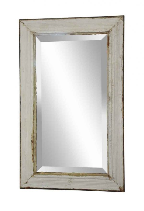 Wood Molding Mirrors - Original White Wooden Beveled Mirror